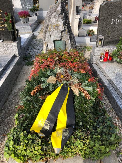 Ehrengrab des deutsch-nationalen Heimatforscher Franz Xaver Kießling in Krems