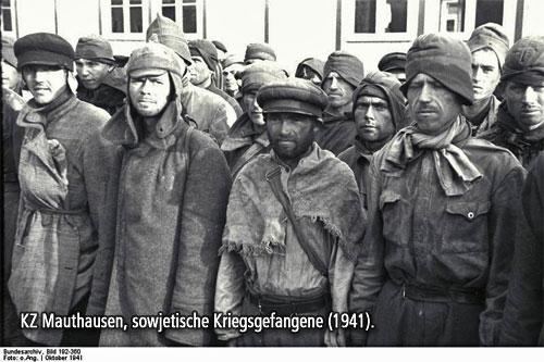 KZ Mauthausen, sowjetische Kriegsgefangene (1941).