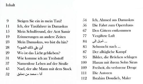 Taxi Damaskus - Inhaltsverzeichnis