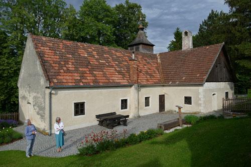 Bürgerspital aus dem 16. Jahrhundert im Museumsdorf Krumbach