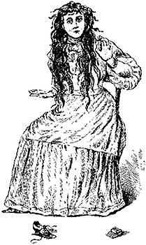 Zeichnung eines Opfers der Bell-Hexe aus Ingrams Buch