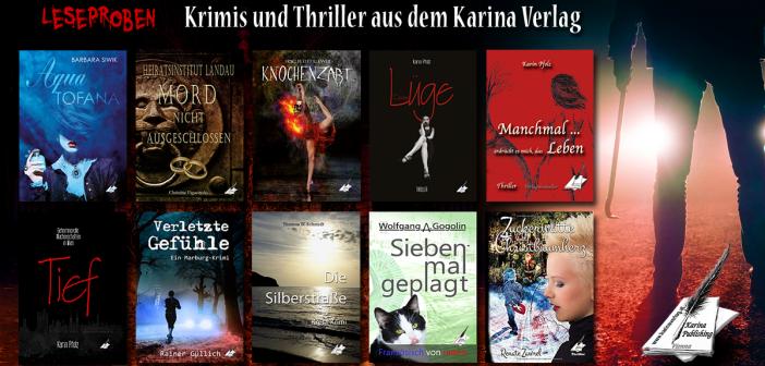 LESEPROBEN: Krimis und Thriller aus dem Karina Verlag